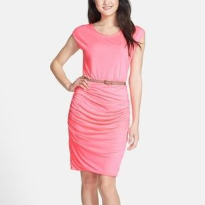 Kut From the Kloth Avy Neon Ruched Jersey Dress